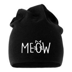 Jersey Beanie Katze Meow Miau Cat Mütze bedruckt Herren Damen Moonworks®