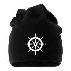 Jersey Beanie Steuerrad Segeln Mütze bedruckt Herren Damen Moonworks®