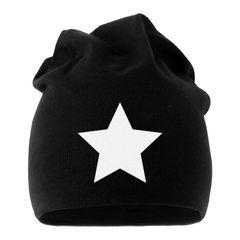 Jersey Beanie Stern Star Full Mütze Damen Herren bedruckt Moonworks®