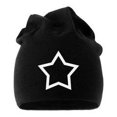 Jersey Beanie Stern Star Hollow Herren Damen bedruckt Moonworks®