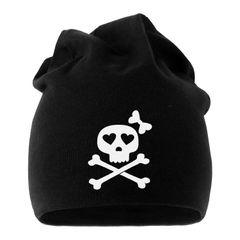 Jersey Beanie Knochen Bones Totenkopf Skull Girl Pirat Herren Damen Moonworks®