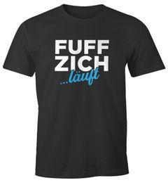 Herren T-Shirt Geschenk für Männer zum 50. Geburtstag Aufdruck Fuffzich ...läuft MoonWorks®