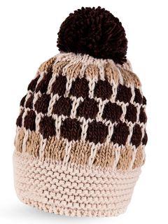 Strickmütze Bommel bunt Wintermütze Pudelmütze Bommelmütze Fleece Neverless®