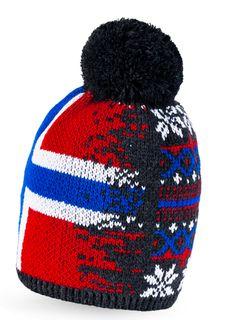 Strickmütze Bommel Norwegermuster Wintermütze Bommelmütze Fleece Pudelmütze