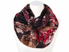 XXL Schlauchschal Infinity Loop Schal Rundschal Paisley Tube Scarf Floraler Print Autiga®