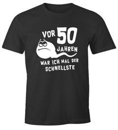 Herren T-Shirt 50. Geburtstag lustiger Spruch Geschenk für Männer Sperma Spermium MoonWorks®
