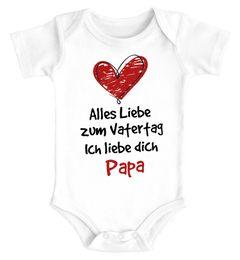 Baby Body Alles Liebe zum Vatertag Geschenk Papa Vatertagsgeschenk Bio-Baumwolle Jungen & Mädchen MoonWorks®