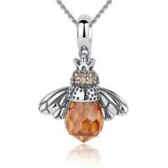 Damen Halskette Biene Anhänger 925 Sterling Silber Geschenk Geschenkbox Autiga®