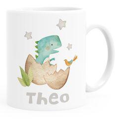 Kindertasse Kunststoff Dino Baby Namenstasse für Kinder Dinoaurier Tier Motiv Jungen Mädchen SpecialMe®