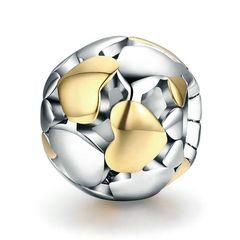 Charm Bead Herzen Herz Heart, aus 925 Sterling Silber Autiga®