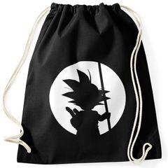 Turnbeutel Son Goku Dragon-Ball Moon Hipster Beutel Tasche Sportbeutel Gymsac Gymbag Moonworks®