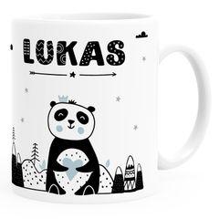 Kindertasse Kunststoff Panda-Bär Tiere Scandi-Design  personalisierte Namenstasse für Kinder SpecialMe®