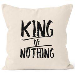 Kissenbezug King of Nothing Kissen-Hülle Partner Hochzeit 40x40 MoonWorks®