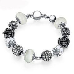Bettelarmband Beads-Armband Schmuck-Armband Beads Anhänger versilbert Autiga®