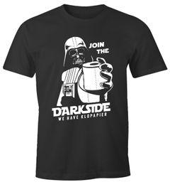 Herren T-Shirt Join The Dark Side Klopapier Parodie Science Fiction Fun-Shirt Spruch lustig Moonworks®