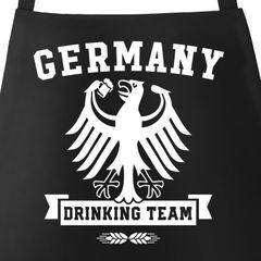 Grill-Schürze für Männer mit WM Deutschland Germany Drinking Team Motiv Baumwoll-Schürze Grill-schürze Küchenschürze Moonworks®