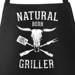 Grill-Schürze für Männer mit Spruch Natural Born Griller Vintage Moonworks®
