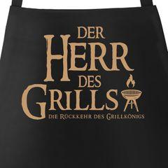Grill-Schürze für Männer mit Spruch Der Herr des Grills Grillkönig Moonworks®