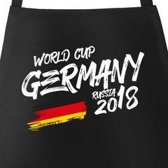 Grill-Schürze für Männer Deutschland WM Fußball Weltmeisterschaft 2018 World Cup Adler Vintage Baumwoll-Schürze Küchenschürze Moonworks®