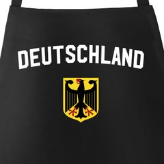 Grill-Schürze für Männer Deustchland Adler WM Baumwoll-Schürze Küchenschürze Moonworks®