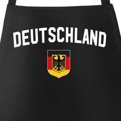 Grill-Schürze für Männer WM Deutschland Flagge Adler Baumwoll-Schürze Küchenschürze Moonworks®