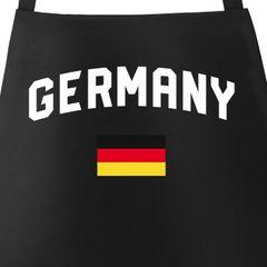Grill-Schürze für Männer WM Fußball Weltmeisterschaft 2018 World Cup Classic Baumwoll-Schürze Küchenschürze Moonworks®