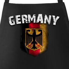 Grill-Schürze für Männer WM Deutschland Flagge Baumwoll-Schürze Küchenschürze Moonworks®