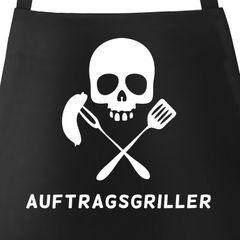 Grill-Schürze Auftragsgriller für Männer mit Spruch Moonworks®