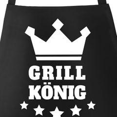Grill-Schürze für Männer Grill-König Krone Sterne Moonworks®