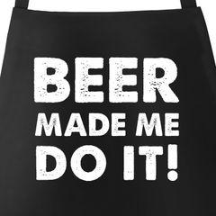 Grill-Schürze für Männer mit Spruch Beer Made mit Do It Moonworks®