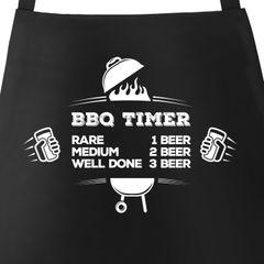 Grillschürze für Männer mit Spruch BBQ Timer Bier Schürze Herren Moonworks®