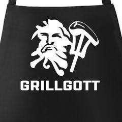 Grill-Schürze für Männer mit Motiv GrillGott von Moonworks®