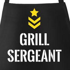 Grill Sergeant Grill-Schürze für Herren mit Spruch Moonworks®