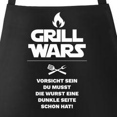 Grill wars Schürze für Männer mit Spruch Moonworks®