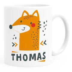 Kinder-Tasse Kunststoff Fuchs personalisierte Namenstasse für Jungen Mädchen Tiere Tiermotiv SpecialMe®