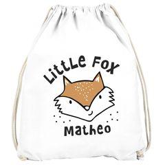 Kinder Turnbeutel personalisiert mit Name Tiermotive little Fox Fuchs Pinguin Panda Namensaufdruck SpecialMe®
