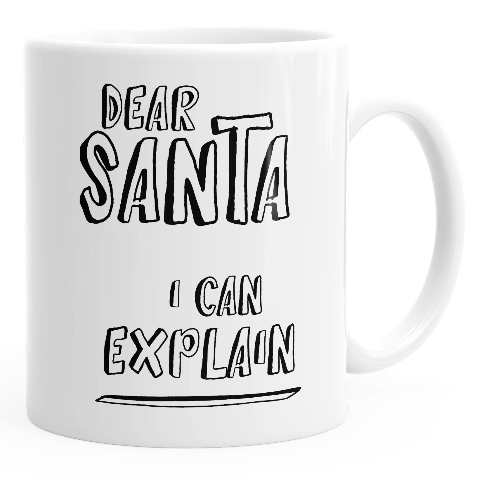 Weihnachts-Tasse Dear Santa I can explain Kaffee-Tasse Weihnachten ...