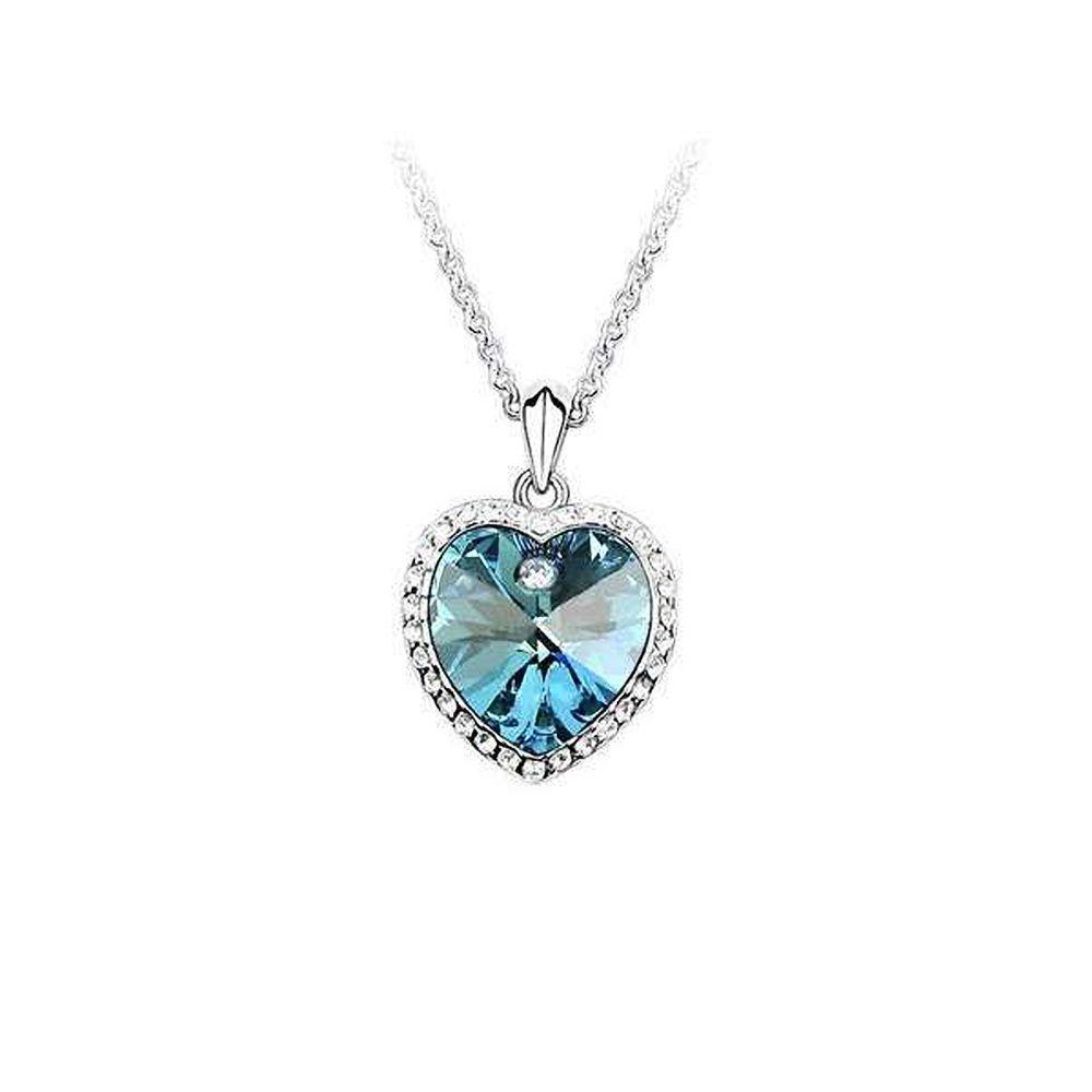 Halskette Collier Herz Titanic Herz des Ozeans Anhänger Kristall ...