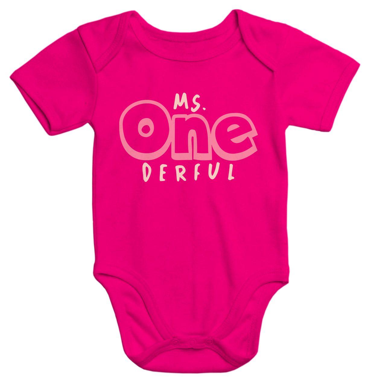 Miss One Derful Geburtstag Baby Baby T-Shirt Kurzarm