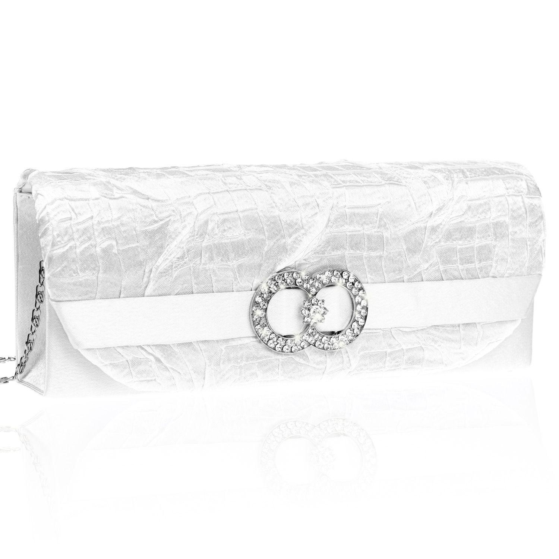 Verantwortlich Clutch Tasche Handtasche Abendtasche Edle Strass Damentasche Hochzeit Schwarz Elegante Form Damentaschen