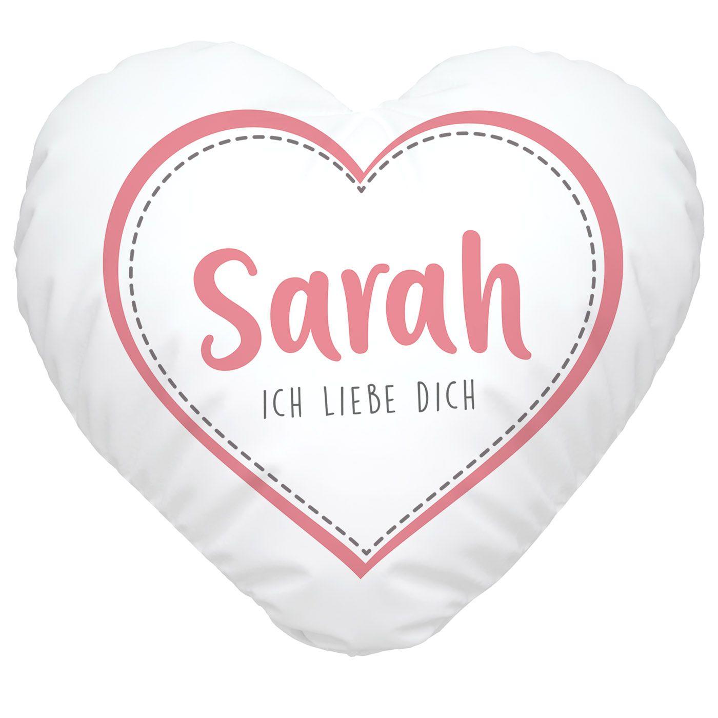 Herzkissen Personalisiert Geschenk Liebe Liebeserklarung Ich Liebe