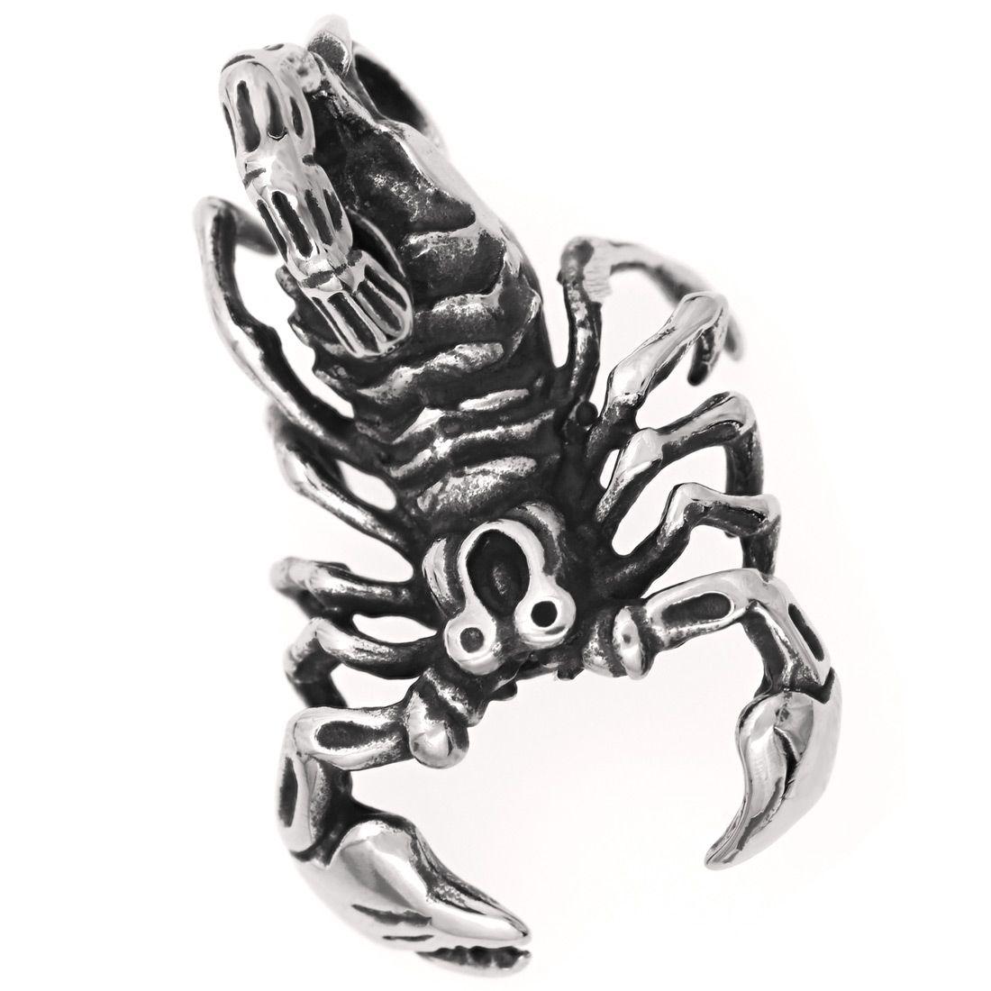anh nger halskette skorpion biker edelstahl gothic punk sternzeichen kugelkette ebay. Black Bedroom Furniture Sets. Home Design Ideas