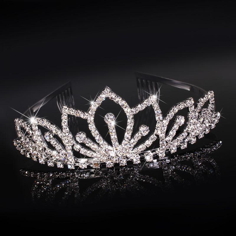 diadem hochzeit tiara braut krone haarreif strass. Black Bedroom Furniture Sets. Home Design Ideas