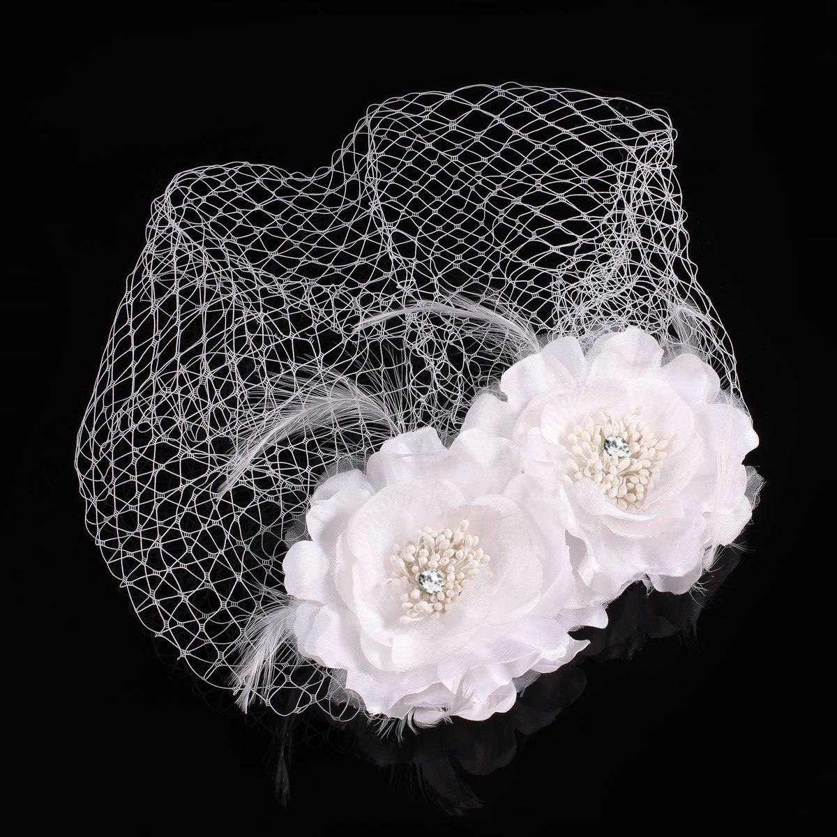 fascinator birdcage brauthut netz gesicht schleier braut haarschmuck blume feder ebay. Black Bedroom Furniture Sets. Home Design Ideas