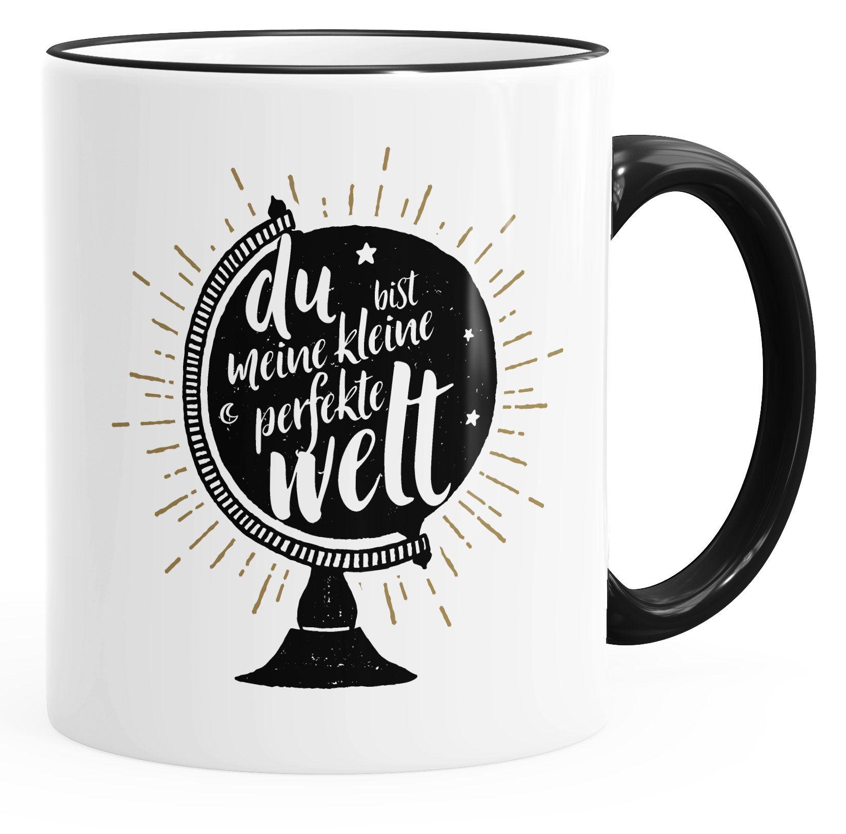 Kaffeebecher Bamboo-To-Go-Becher Du bist meine kleine perfekte Welt